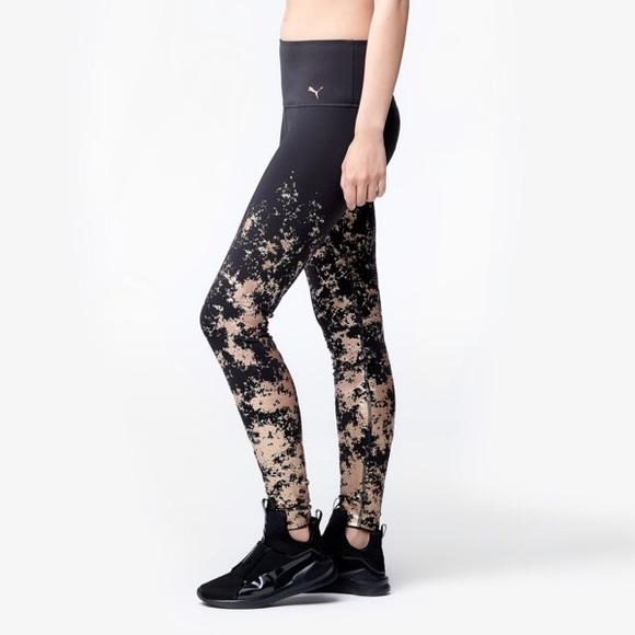 puma velvet rope leggings
